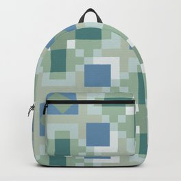 Gentle Shaded Plaid Backpack