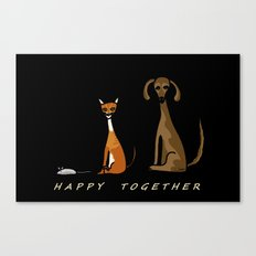 Happy Together - Black Canvas Print