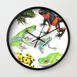Endangered Frog Species Wall Clock