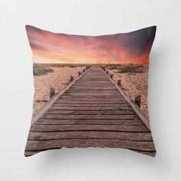 Sunset at Dungeness Throw Pillow