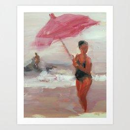 Rosé Summer Art Print