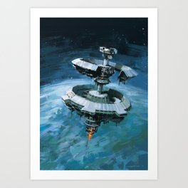 Orbital Beam Platform Art Print