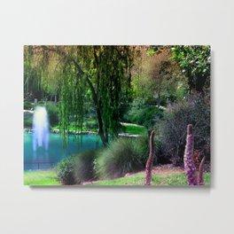 Utopia Garden Metal Print