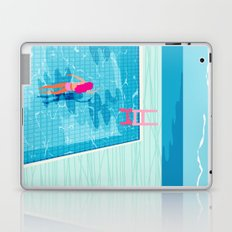 In Deep - memphis throwback swimming athlete palm springs resort vacation country club infinity pool Laptop & iPad Skin
