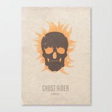 Ghost Rider - minimal poster Canvas Print