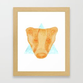 Native Aztec Badger Framed Art Print