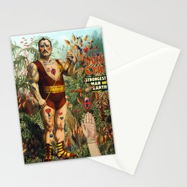the strongest man of the world Stationery Cards