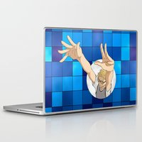 haikyuu Laptop & iPad Skins featuring Tsukishima Kei - Haikyuu!! - block by anywayimnikki