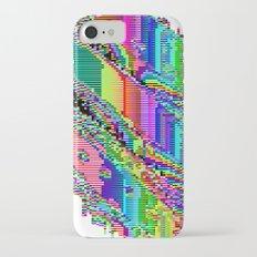 Equatorial Rainbow (Glitch Art / Pixel) iPhone 7 Slim Case