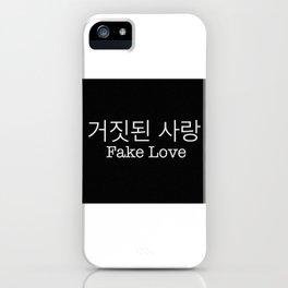 Fake love - BTS iPhone Case