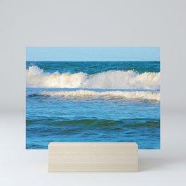 Abstract vibrant splashing waves off the coast of Queensland Mini Art Print