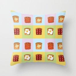 Toasty Toppings Throw Pillow