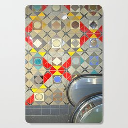 Detroit People Mover Art Broadway Fort and Cass Cutting Board