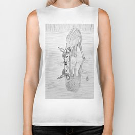 Fawn and reflection Biker Tank