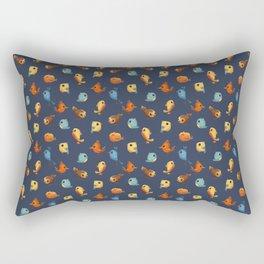 Birds And Feathers Rectangular Pillow