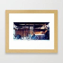 blue bike series 3.0 Framed Art Print