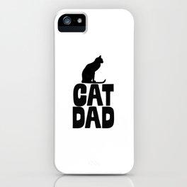Cat Dad iPhone Case