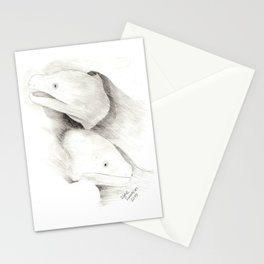 Moray Eels Sketch Stationery Cards