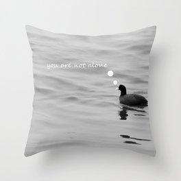 lonely bird Throw Pillow