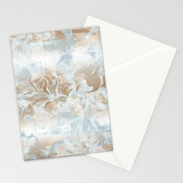 Watercolour in Blue Gold Stationery Cards