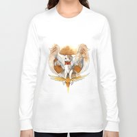 hedwig Long Sleeve T-shirts featuring Potter Hedwig Owl by Rubis Firenos
