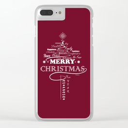 The Wishing Christmas Tree Clear iPhone Case