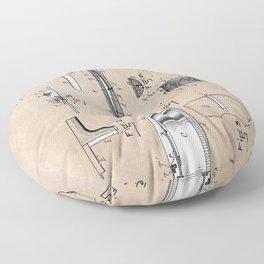 patent art Anderberg 1894 Guitar Floor Pillow