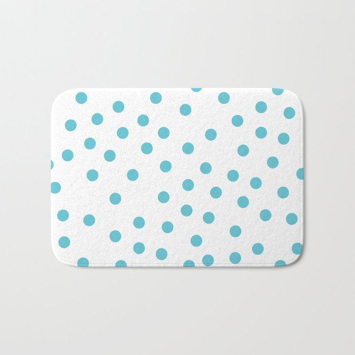 Simply Dots in Seaside Blue Bath Mat