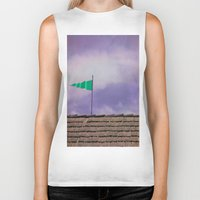flag Biker Tanks featuring Flag by Maite Pons