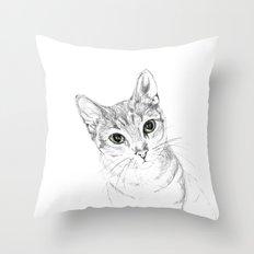 A Sketch :: Cat Eyes Throw Pillow