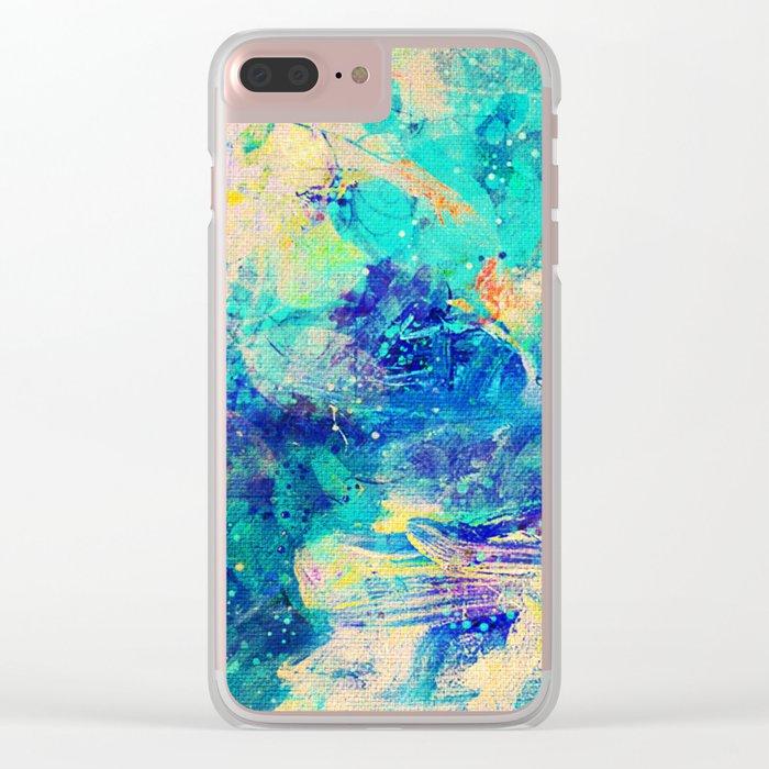 Stellar Whales Clear iPhone Case