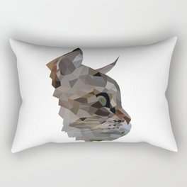 Geometric Cat Digitally Created Rectangular Pillow