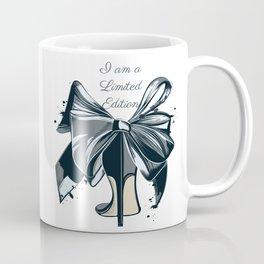 Fashion illustration with high heel shoe and bow. I am limited edition Coffee Mug