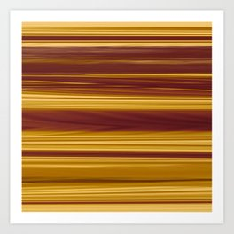 Bold copper stripes Art Print