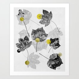 Leaves Abstract 1 Art Print