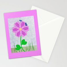 Une fleur avec deux papillons Stationery Cards