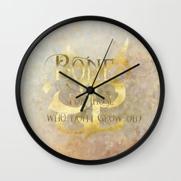 BONE for those who don't grow old. Shadowhunter Children's Rhyme. Wall Clock