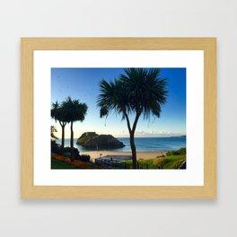 tenby, wales Framed Art Print
