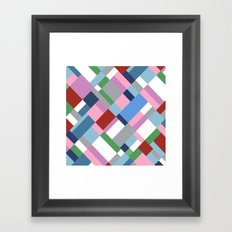 Map 45 New Framed Art Print