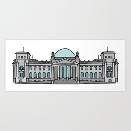Reichstag building in Berlin Art Print