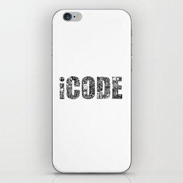iCODE_BLACK iPhone Skin