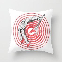 Guitar Smash Throw Pillow