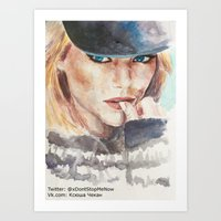 emma stone Art Prints featuring Emma Stone, blonde by xDontStopMeNow