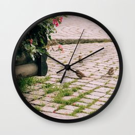 Flowers & Sparrows Cortina d'Ampezzo Wall Clock