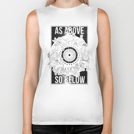 As Above, So Below - Zodiac Illustration Biker Tank