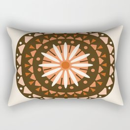 Jivin' - mandala trendy 70s style retro colors decor circle sun Rectangular Pillow