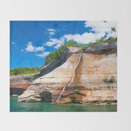 Bridal Veil Falls: Upper Peninsula of Michigan Throw Blanket