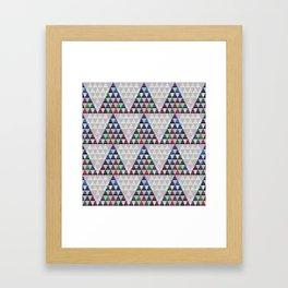 Abstract Pine Tree Pattern 5 Framed Art Print