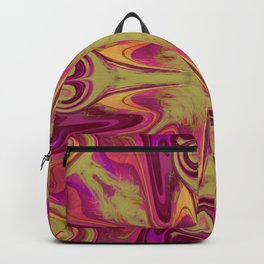 Pink and Green Swirls Backpack