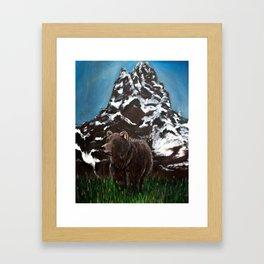 Home in the Tetons Framed Art Print